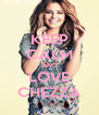 KEEP CALM AND LOVE CHEZZA - Personalised Poster A4 size