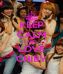 KEEP CALM AND LOVE CHIBY - Personalised Poster A4 size