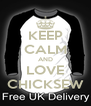KEEP CALM AND LOVE CHICKSEW - Personalised Poster A4 size