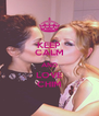 KEEP CALM AND LOVE CHIM - Personalised Poster A4 size