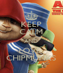 KEEP CALM AND LOVE  CHIPMUNKS - Personalised Poster A4 size