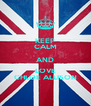 KEEP CALM AND LOVE CHLOE ALLISON - Personalised Poster A4 size