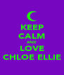 KEEP CALM AND LOVE CHLOE ELLIE - Personalised Poster A4 size