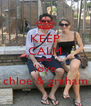 KEEP CALM AND love chloe & graham - Personalised Poster A4 size