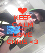 KEEP CALM AND LOVE CHRIS <3 - Personalised Poster A4 size