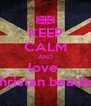 KEEP CALM AND love  christan beatles - Personalised Poster A4 size