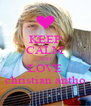 KEEP CALM AND LOVE christian antho - Personalised Poster A4 size