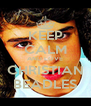 KEEP CALM AND LOVE CHRISTIAN BEADLES - Personalised Poster A4 size