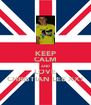KEEP CALM AND LOVE CHRISTIAN LEE XX! - Personalised Poster A4 size