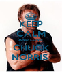 KEEP CALM AND LOVE CHUCK NORRIS  - Personalised Poster A4 size