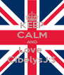KEEP CALM AND Love  CibelysJ:$ - Personalised Poster A4 size