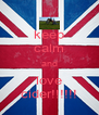 keep calm and love cider!!!!!! - Personalised Poster A4 size