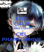 KEEP CALM AND LOVE CIEL PHANTOMHIVE - Personalised Poster A4 size