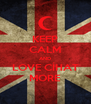 KEEP CALM AND LOVE CİHAT MORE - Personalised Poster A4 size