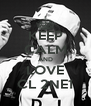 KEEP CALM AND LOVE CL 2NE1 - Personalised Poster A4 size