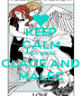 KEEP CALM AND LOVE CLACE AND MALEC - Personalised Poster A4 size