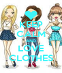 KEEP CALM AND LOVE CLOTHES - Personalised Poster A4 size