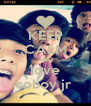 KEEP CALM AND love coboy jr  - Personalised Poster A4 size