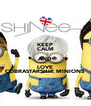 KEEP CALM AND LOVE COBRASTARSHIP MINIONS - Personalised Poster A4 size