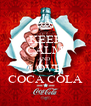 KEEP CALM AND  LOVE COCA COLA - Personalised Poster A4 size