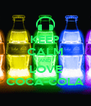 KEEP CALM AND LOVE COCA-COLA - Personalised Poster A4 size