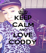 KEEP CALM AND LOVE CODDY - Personalised Poster A4 size
