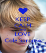 KEEP CALM AND LOVE Cole Sprouse - Personalised Poster A4 size