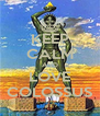 KEEP CALM AND LOVE COLOSSUS - Personalised Poster A4 size