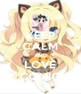 KEEP CALM AND LOVE COMIC - Personalised Poster A4 size