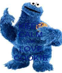 KEEP CALM AND LOVE COOKIE - Personalised Poster A4 size