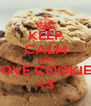 KEEP CALM AND LOVE COOKIES <3 - Personalised Poster A4 size