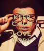 KEEP CALM AND LOVE CORY - Personalised Poster A4 size
