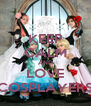 KEEP CALM AND LOVE COSPLAYERS - Personalised Poster A4 size