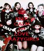 KEEP CALM AND LOVE CRAZYGIRLS - Personalised Poster A4 size