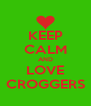 KEEP CALM AND LOVE CROGGERS - Personalised Poster A4 size