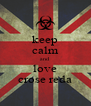 keep calm and  love crose reda - Personalised Poster A4 size