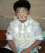 KEEP CALM AND LOVE  CSO - Personalised Poster A4 size