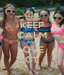 KEEP CALM AND LOVE  CT - Personalised Poster A4 size