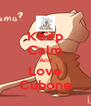 Keep Calm And Love Cubone - Personalised Poster A4 size