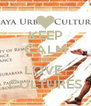 KEEP CALM AND LOVE  CULTURES - Personalised Poster A4 size