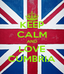 KEEP CALM AND LOVE CUMBRIA - Personalised Poster A4 size