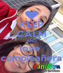 KEEP CALM AND love  cumpleañera - Personalised Poster A4 size