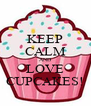 KEEP CALM AND LOVE CUPCAKES! - Personalised Poster A4 size