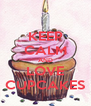KEEP CALM AND LOVE CUPCAKES - Personalised Poster A4 size