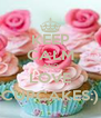 KEEP CALM AND LOVE CUPCAKES:) - Personalised Poster A4 size