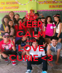 KEEP CALM AND LOVE CURIE <3 - Personalised Poster A4 size