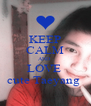 KEEP CALM AND  LOVE  cute Taeyang  - Personalised Poster A4 size
