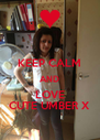 KEEP CALM AND LOVE CUTE UMBER X - Personalised Poster A4 size