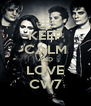 KEEP CALM AND LOVE CW7 - Personalised Poster A4 size