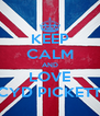 KEEP CALM AND LOVE CYD PICKETT - Personalised Poster A4 size